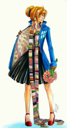 I really want my mom to make me this coat... and scarf...