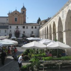 Sulmona Italy  on market day. great place for cheeses, linens, and flowers