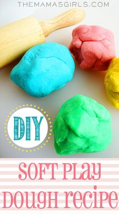DIY Soft Play Dough Recipe stays soft for weeks!