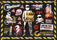 Top Gear Sticker Sheet
