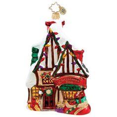 christopher radko dickens village images   RADKO DICKENS VILLAGE Christmas INN 2011 ornament of the month NEW