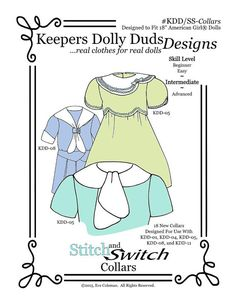 PDF Pattern KDD/SS-Collars  18 Supplemental by KeepersDollyDuds