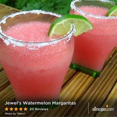 It ain't summer 'til you've had your first watermelon...margarita, that is! So refreshing whether you're kicked back on a porch swing, perched on a balcony, or lounging by the lake.
