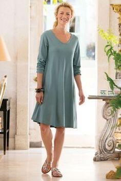 Women's cotton/modal Knit Casual Dress | SoftSurroundings.com