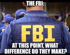 If certain people, like bill and hillary can get away with the corruption they've been doing, why would the FBI convict anyone else
