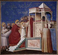 Giotto. Presentazione della vergine al tempio. Padova, Cappella degli Scrovegni