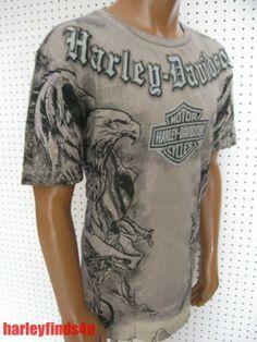 72b0b29972 XL nwt Mens HARLEY DAVIDSON  Unleashed  Dual Eagle dyed Tee Shirt Soft