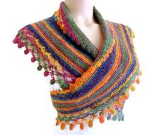 Multicolor baktüs scarf woman scarf scarf fashion by likeknitting