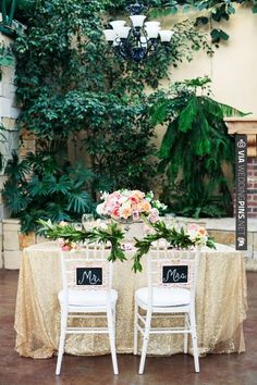 mr and mrs sweetheart table ideas | CHECK OUT MORE IDEAS AT WEDDINGPINS.NET | #wedding