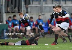 12 January 2016; Cormac Dempsey-Lerchundi, The High School, attempts a conversion held by team-mate Finn Connelly. Bank of Ireland Schools Fr. Godfrey Cup, Round 1, De La Salle Churchtown v The High School, Donnybrook Stadium Donnybrook, Dublin. Picture credit: Cody Glenn / SPORTSFILE