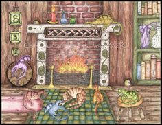 """Cozy dragons.. """"By the Fire"""""""