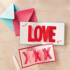 How to make DIY pop-up Valentines cards. Wow!