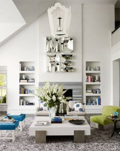 """""""When creating a space, I'm always trying to achieve the perfect balancing between welcoming comfort and a little wow factor."""" —Erin Hiemstra"""