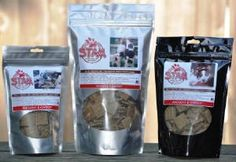 STAM grain-free and gluten-free dog treats, made in Wood Village, Oregon (O / USA)