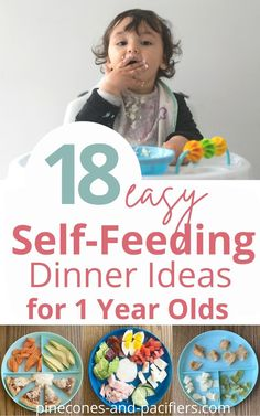 Stop here for toddler dinner ideas! 18 self-feeding dinner ideas for 1 year old babies and toddlers based on what my toddlers actually eat for dinner every night. #toddlermealideas #toddlerfood… Easy Toddler Meals, Easy Meals For Kids, Toddler Fun, Feeding Baby Solids, Solids For Baby, Baby Feeding Schedule, Baby Schedule, Baby Led Weaning First Foods, Baby Weaning