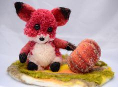 How cute is this ?  Pom pom fox - Shahar Boyayan