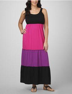 Colorblock Maxi Dress.