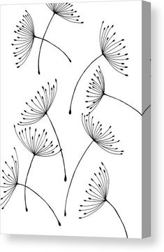Dandelion seeds Canvas Print / Canvas Art by Vilem Buchmann Doodle Art Art Buchmann Canvas Dandelion Print seeds Vilem Art Sur Toile, Doodle Art Drawing, Easy Doodle Art, Wall Drawing, Black Pen Drawing, Doodle Art Letters, Doodle Doodle, Doodle Art Journals, Drawing Ideas