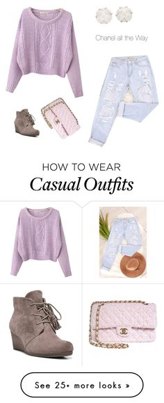 """""""Casual chique"""" by chicibo on Polyvore featuring Dr. Scholl's, Chicnova Fashion and Chanel"""