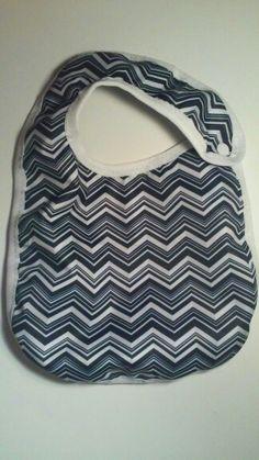 Baby Girl Waterproof Fabric Bib With Snap