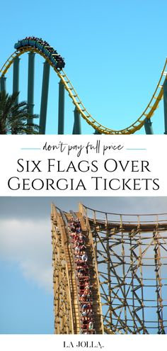 Learn where to buy discount Six Flags Over Georgia tickets through authorized sellers so that you don't pay gate prices on admission. Family Vacation Destinations, Vacation Packages, Vacation Spots, Travel Destinations, La Jolla San Diego, San Diego Zoo, All Ride, Things To Do At Home, Six Flags