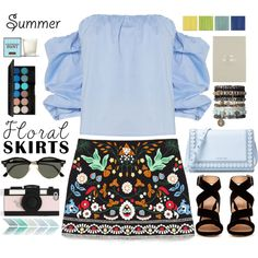 A fashion look from July 2016 by bliznec-anna featuring Bardot, Gianvito Rossi, MICHAEL Michael Kors, Kate Spade, Ray-Ban, Topshop, Henri Bendel, polyvoreeditor...