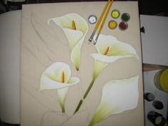 Dibujos de calas para pintar en tela - Imagui
