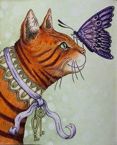Super cute!!!! @Regrann from @zuzka.hanova -  #sommarnatt #hannakarlzon #coloring #coloringbook #adultcoloringbook #adultcoloring #pencils #fabercastell #polychromos #cat  #artecomoterapia #livrodecolorir #lapisdecor #coloredpencil#Regrann
