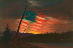 size: Art Print: Patriotic and Symbolic Painting after the Attack on Fort Sumter by Stocktrek Images : American Revolutionary War, American Civil War, Captain American, American Pride, American Flag, Canvas Wall Art, Wall Art Prints, Diy Canvas, Civil War Art