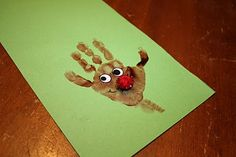 Handprint for ornament