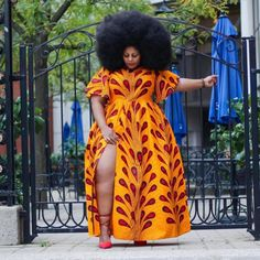 african print dresses Buy Yellow African Maxi dress With Font Slit at ! 45 days money back guarantee. Ankara Maxi Dress, African Maxi Dresses, African Wedding Dress, African Dresses For Women, African Attire, Modern African Dresses, African Clothes, African Dress Styles, African Wear