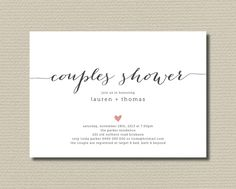 Couples Shower Printable Invitation