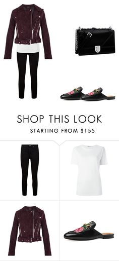 """""""Df"""" by cristt1 ❤ liked on Polyvore featuring Paige Denim, T By Alexander Wang, BLANKNYC, Gucci and Christian Dior"""