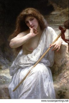 Bouguereau William - 'Bacchante'  #art #bouguereau