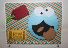 Kory B. Tarjeta cookie monster Punch art