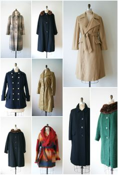 vintage coats by new old fashion on etsy