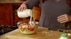 Mini Chopped Salad with Buttermilk Dressing Recipe : Ree Drummond : Food Network
