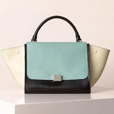 love love love - Colorblock bag with my favorite colors. Celine Spring/Summer 2013