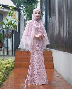 Dress Brokat Muslim, Dress Brokat Modern, Kebaya Modern Dress, Dress Pesta, Muslim Dress, Kebaya Dress, Hijab Evening Dress, Hijab Dress Party, Abaya Fashion