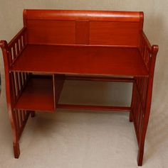 upcycle baby changing table into a desk