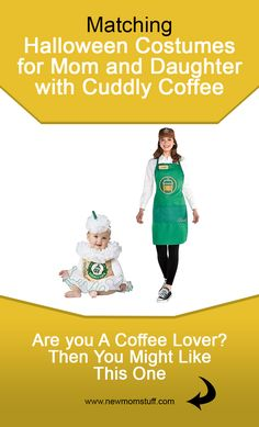 Matching Halloween costumes for mom and daughter with Cuddly Coffee and Hardwork. Matching Halloween Costumes, Mom Costumes, Baby Girl Halloween Costumes, Stylish Maternity, Mom Advice, First Time Moms, Pregnancy Tips, Mom And Baby, Daughter