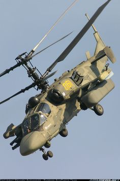 "Russian Kamov Ka-52 Alligator ""Hookum"" attack helicopter."