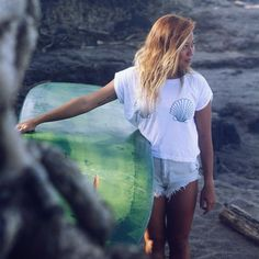 We love this cute beach bum tee from Zealous!  Shell print on the front Zealous Logo on the back 100% cotton
