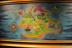Map of Neverland to paint on one wall.