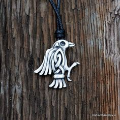 Viking raven pendant