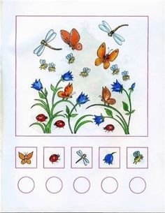 Spring Activities, Learning Activities, Kids Learning, Learning Numbers, Math Numbers, Math Gs, Insects For Kids, Insect Crafts, File Folder Activities