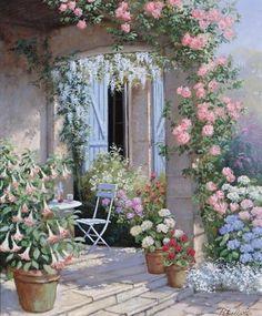 Художник Peter Motz. Жизнь среди цветов (9 фото)