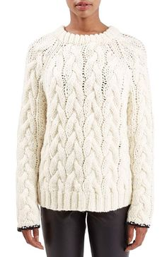 Topshop Boutique Chunky Cable Knit Sweater available at #Nordstrom