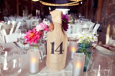 Ideas for Table Names and Numbers , Wedding Reception Photos by Austin & Dara Photography + Video