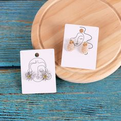 20pcs/Lot Earrings and Necklaces Display Cards 400gsm Cardboard Earring Packaging Card Ear Studs Paper Cards 4.8x6.2cm|Jewelry Packaging & Display| - AliExpress Necklace Packaging, Jewelry Packaging, Jewelry Branding, Necklace Display, Earring Display, Jewellery Display, Polymer Clay Jewelry, Resin Jewelry, Packaging Carton